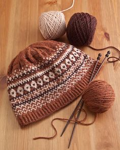Natural Stitches - Pittsburgh, PA - Fair Isle Beanie - Pattern  60 Quick Knits from America's Yarn Shops