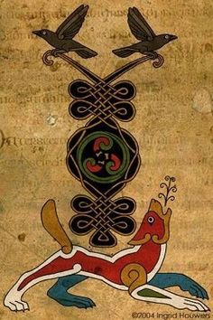 Celtic ornament the vikings Celtic Symbols, Celtic Art, Celtic Raven, Raven And Wolf, Symbole Viking, Bild Tattoos, Viking Art, Viking Woman, Crows Ravens