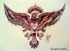 Eagle with Heart on Chest Tattoo Design Music Tattoos, Arrow Tattoos, Feather Tattoos, Body Art Tattoos, Sleeve Tattoos, Chest Tattoo Music, Tatoos, Polish Eagle Tattoo, Polish Tattoos