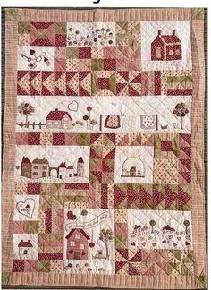 Hoy tengo el placer de mostraros dos nuevos diseños de patchwork de Marie Suarez que para mi son especialmente emotivos Bienvenue Un pequeño panel (20 cm por 36cm ) de facil realización. El diseño totalmente en la linea de Marie con sus colores rojos...