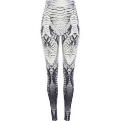 River Island Grey Georgia Hardinge printed leggings ($46) ❤ liked on Polyvore