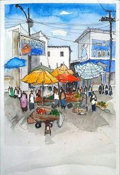 Artist unknown - Urban Sketchers