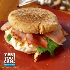 English Muffin Egg whites Sandwich a Yes You Can Diet Plan Breakfast Recipe