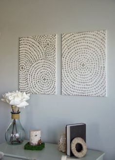 easy Canvas Wall Art. Diy wall art and a low cost home decor ides. Craft. To see more  visit- http://www.ourhousenowahome.com/
