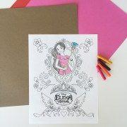 Elena of Avalor Coloring Page  - Free Printables freaturing Disney Princess Elena of Avalor