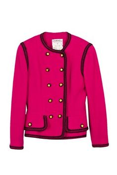 Chanel - Fuchsia Bouclé Wool Jacket Shop it here: www.starbags.eu