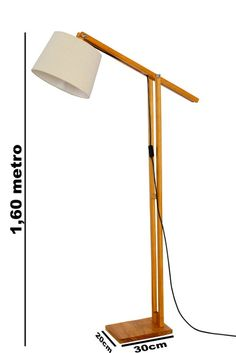 Diy Floor Lamp, Wood Floor Lamp, Wooden Sofa, Wooden Lamp, Diy Home Decor Projects, Home Crafts, Lamp Design, Lighting Design, Luminaria Diy