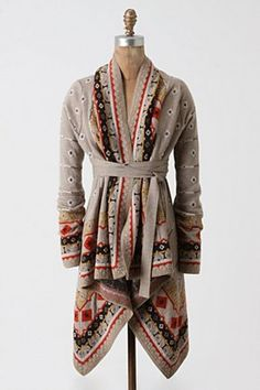 I absoulutely love cardigans especially colorful ones. They are perfect year-round. This would be great for fall through early spring. :)