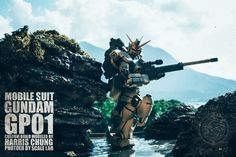 DIORAMA Gundam GP01 Custom Build by Harris Chung. Amazing Photo Editing by Scale LAB! PHOTO REVIEW http://www.gunjap.net/site/?p=258237