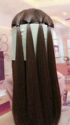 lustige kurze Videos Plattform - hairstyle for medium length hair women easy braids - Easy Hairstyles For Long Hair, Unique Hairstyles, Girl Hairstyles, Wedding Hairstyles, Hairstyles With Braids, Hairstyles For Medium Length Hair, Super Cute Hairstyles, Quinceanera Hairstyles, Step By Step Hairstyles