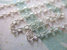 10 feet Sterling Silver Wholesale Chain 2x1.5 mm Cable