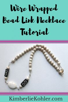 In this video tutorial, learn how to use a wire wrapped bead link as a focal for a necklace. Necklace Tutorial, Diy Necklace, Diy Jewelry, Jewelry Making, How To Make Necklaces, Everyday Objects, Wire Wrapping, Making Ideas, Personal Style