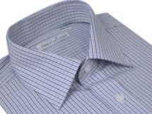 Bergstrom's Tribute - Black and Blue - $68 Men's Super Slim Fit Dress Shirt