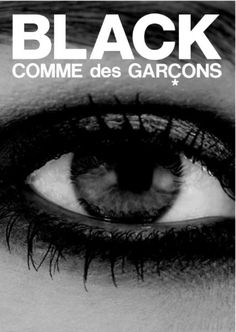 Black Comme des Garcons, Ad for the new store in Tokyo _