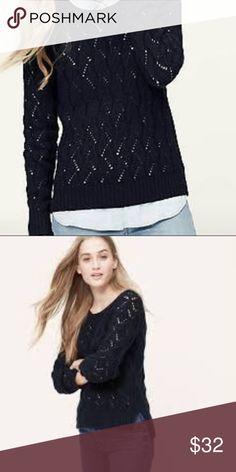acbf6a2e3ad Ann Taylor Loft Diamond Pointelle sweater medium New with tags Ann Taylor  LOFT diamond pointelle sweater