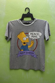 Vintage 80s 90s Bart SIMPSON PEACE MAN Music by vintagestore13