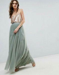 a6c448cd291 Needle   Thread Metallic Chiffon Maxi Skirt