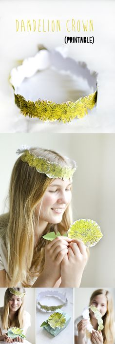 Printable Paper Dandelion Crowns   willowday