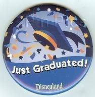 """Details about Disney Pin DLR """"Just Graduated"""" Button Pin Just graduated Disney pin. – they didn't have these when I was in wdw…:/ stil have my celebrating pin."""