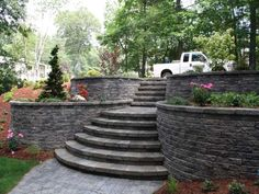 Landscape Design Retaining Wall Ideas fabulous retaining wall idea and steps landscaping design in a hilly space Backyard Retaining Wall Designs Nh Landscape Design For Retaining Wall Ideas Terrace Wall Steps Painting