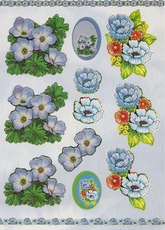 Uitdrukvel Blauwe Bloemen € 1,-