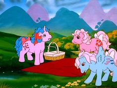 The main is realy nicely drawn Original My Little Pony, My Little Pony Cartoon, Vintage My Little Pony, Cute Cartoon, Old Cartoons, Animated Cartoons, Illustrations, Illustration Art, Magic Coins