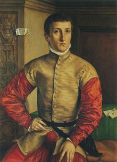 1584 GEORG PENCZ, Portrait of a Young Man. Oil in wood. Uffizi