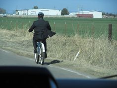 Elder Norman got a flat on his bike, so he's borrowing a cruiser from someone else. It's sooo slow.