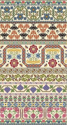 St. Hyppolite -Area in stitches: 415 x 227 - During the 17th Century band samplers were worked to provide an easy method of laying down design ideas as printed patterns were virtually unobtainable. These early samplers were often produced by young women on behalf of professional or adult needlewomen. Many surviving examples of original 17th century band samplers have been found in extremely good condition as they were probably kept rolled and stored away from natural light when not being…