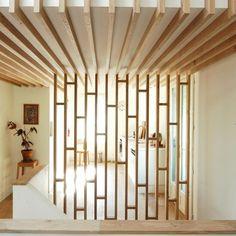wood screen- ties into joists
