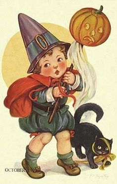 Vintage Halloween Cards  - vintage Fan Art
