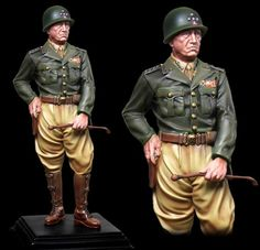 World War II U.S. Armored Divisions CS60001 General George S. Patton Statue - Made by The Collectors Showcase Military Miniatures and Models. Factory made, hand assembled, painted and boxed in a padded decorative box. Excellent gift for the enthusiast.