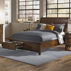 Shop for Camden Sleigh Storage Bed. Get free shipping at Overstock.com - Your…