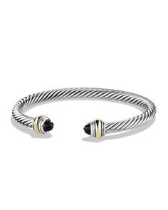 David Yurman Color Classic Bracelet with Onyx and Gold