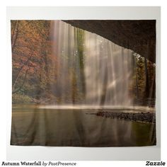 Autumn Waterfall Tapestry