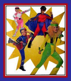 Vintage 1995-SUPER HERO KIDS-Designer Sewing Pattern-Design Your Costume-Unlimited Styles-Top-Pants-Cape-Helmet-Uncut-Size 4-14-Mega Rare by FarfallaDesignStudio on Etsy