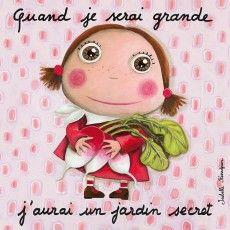 Tableau Jardin secret - Quand je serai grand(e) - Isabelle Kessedjian