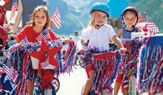 Fun Ideas for decorating bikes for the Fourth of July Parade.
