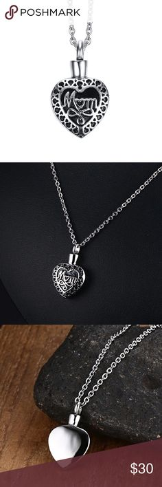 """Stainless Steel Heart Mom Necklace Brand new Price firm No trades Gift box included  Metal: Stainless steel Color: Silver Chain length: 18"""" or 24"""" Stainless steel does not tarnish rust or change colors Jewelry Necklaces"""