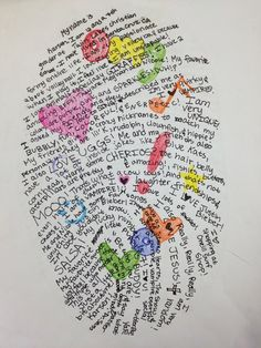 Thumbprint Self-Portrait - This would be good for a beginning of the year activity and a nice visual in the hallway!