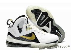 f7451bf4e0ab Nike LeBron 9 P.S. Elite Shoes White Black Hot