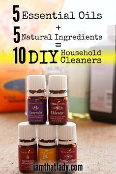 It is Spring Cleaning time! One of my favorite ways to clean is with homemade cleaners! In this post I walk through how to make 10 of your own cleaning supplies; using a combination of 5 natural ingredients and 5 essential oils! This will save you HUNDREDS per year and you will never run out of supplies!