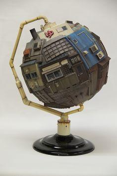 Masakatsu Sashie - Territorial Globe #masakatsusashie #jonathanlevinegallery