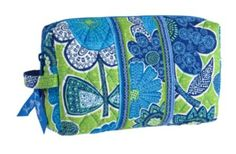 Vera Bradley Medium Cosmetic in Doodle Daisy * To view further for this item, visit the image link.