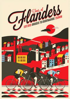Neil Stevens - poster of the Tour of Flanders.