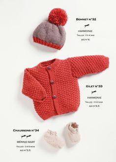 Modèle de tricot - Enfant - Catalogue Cheval Blanc n°21 - Laines utilisées : MERINO BABY et HARMONIE