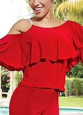 Dance America T517 - Poet Dance Top-Red