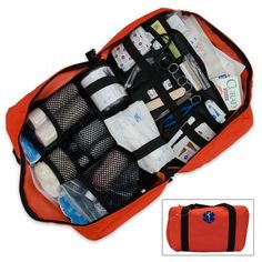 Everything you could need in a medical emergency except the ER itself. Elite orange master first aid kit on budk https://www.budk.com/catalog/product.jsp?productId=174890
