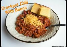Crockpot Chili with Beans
