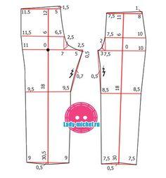 Шьем осенние брюки для девочки на 2-3 года - Одежда для малышей - Выкройки для детей - Каталог статей - Выкройки для детей, детская мода Peasant Dress Patterns, Baby Girl Dress Patterns, Sewing Shirts, Sewing Pants, Kids Patterns, Sewing Patterns Free, Scrubs Pattern, Pattern Drafting, Pants Pattern